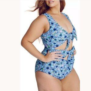 Alpine Butterfly Goddess One-Piece Swimsuit 🦋